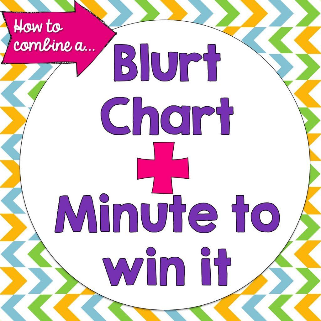 Blurt Chart+Minute to Win It Fridays | Teaching and Tapas